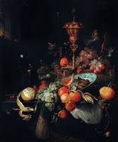 Fruits by Abraham Mignon
