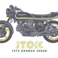 1979 Ducati Darmah 900SD Art Prints & Posters by Toby Wilkinson