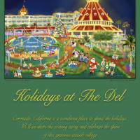"""""""Holidays at The Del, Poster"""" by MichaelIves"""