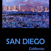 Retro Travel Poster San Diego California Art Prints & Posters by M Bleichner