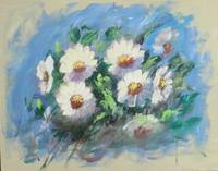 Original Floral Daisies Painting; Flowers