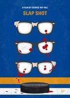 No1130 My Slap Shot minimal movie poster