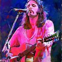 Glenn Frey Wall art by Edward Vela Art Prints & Posters by Edward Vela