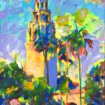 Balboa Park Picture Alcazar Garden and Tower by RD Riccoboni