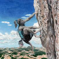 Wererat Girl Rock Climbing Sport Fantasy Art
