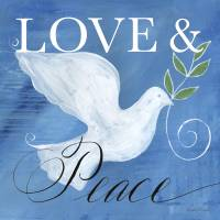 Love & Peace Holiday Dove Art Prints & Posters by Caitlin Dundon