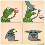 Baby Yoda snacky Prints & Posters