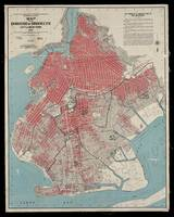 Brooklyn Borough Map 1912 showing congested areas