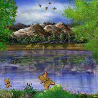 Imaginative Landscape Painting Art Prints & Posters by Stephen Lo Piano