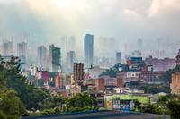 View over the misty Medellin - Colombia
