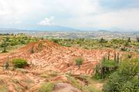 View over the Tatacao desert in Colombia