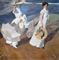 Strolling along the Seashore by Joaquín Sorolla (1