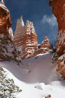 Bryce Canyon National Park Hoodoos Under Snow, Uta