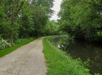 Ohio & Erie Canal Towpath Trail Along the Canal