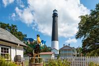 Pensacola Lighthouse with Pelican