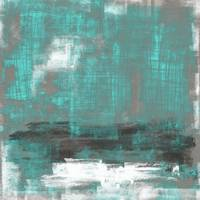 Gray teal abstract #24