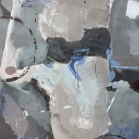 Springing Leaks Neutral Abstract Art Prints & Posters by RUTH PALMER