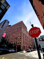 NYC Dumbo Street and Corner Scene with Stop Sign
