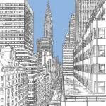 New York City 42nd street Chrysler Building by RD Riccoboni