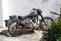 Royal Enfield Bullet 500 motorcycle, Greece