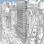 Flatiron Building Fifth Avenue and Broadway NYC by RD Riccoboni