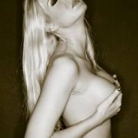 4364 Intimita Nuda Blonde Girl Nude Art Prints & Posters by Surxposed Surexposed
