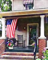 House with Betsy Ross Flag