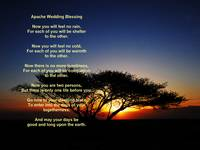 Apache Wedding Blessing Lone Acacia Tree Sunrise