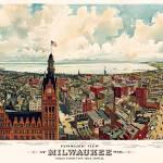 Milwaukee panoramic View Prints & Posters