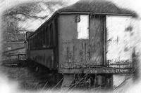 The Old Train Car by Kirt Tisdale