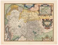 Map of Brabant, anonymous, 1592