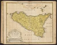 Antique Atlas Map Of The Island Of Sicily
