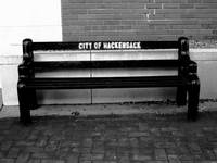 Hackensack, NJ - Main Street Bench 2018 BW