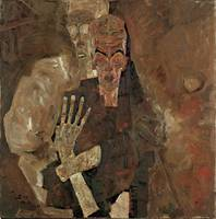 Self-Seer II (Death and Man) by Egon Schiele (1911