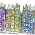 San Francisco Victorian Row Houses  by RD Riccoboni