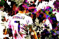 Digital Pop art portrait of football player Cristi