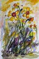 Hope of Spring to Come Daffodils Watercolors