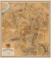 Map of the Battlefield of Antietam 1864