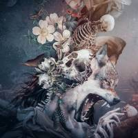 Wolf in moonlight Art Prints & Posters by RIZA PEKER