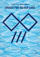 No1171 My Under the silver lake minimal movie post