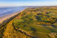 Aerial view of Bandon Dunes Golf Course Hole 16