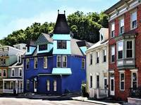 Jim Thorpe PA - Street With Blue Building