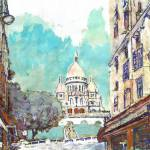 The Basilica of the Sacred Heart of Paris by RD Riccoboni