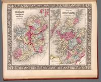 Map Of Ireland, Scotland, & Shetland Islands 1863