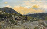 Eugenio Spreafico, Evening on the alp with grazing