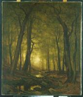Evening in the Woods 1876 Worthington Whittredge