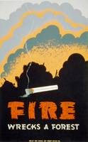 Fire Wrecks a Forest. Poster for the Chicago, Ill.