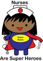 Nurse Super Hero African American Black Kawaii