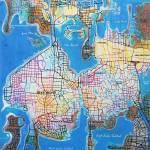 Bear Island Beach Small Map by RD Riccoboni