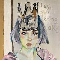 hey, you doing ok? Art Prints & Posters by Karen Jones